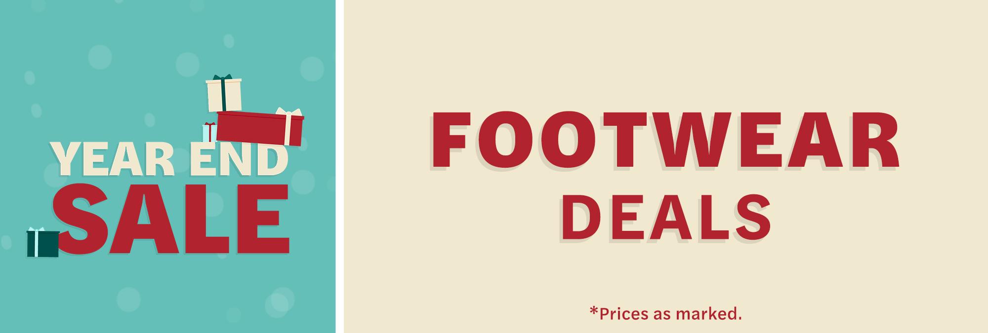 Year End Sale 2020 - Footwear Deals
