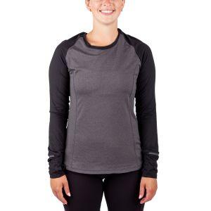 Running Room Women's Mini Stripe Reglen Long Sleeve Run Shirt