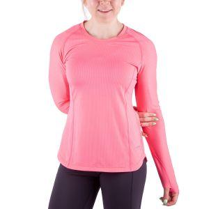 Running Room Women's Stripe Polygiene Long Sleeve Run Top