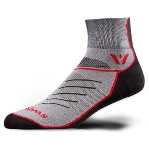 Swiftwick Vibe 2 Socks - Black/Red/Gray